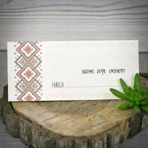 Plic bani - place card