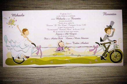 Invitatie 2 in 1 nunta si botez