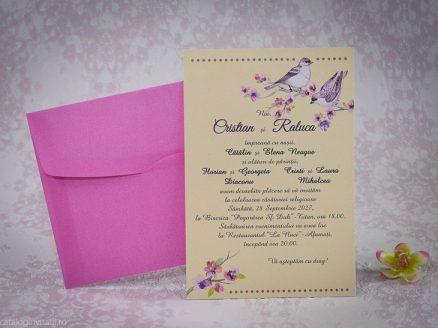 detaliu indepartat invitatia si plicul