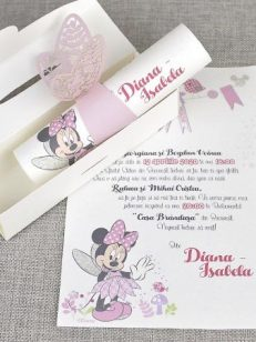 detaliu cutie si invitatie Butterfly minnie the mouse 15708