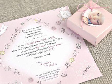 detaliu text Invitatie botez Solnita Origami 15726