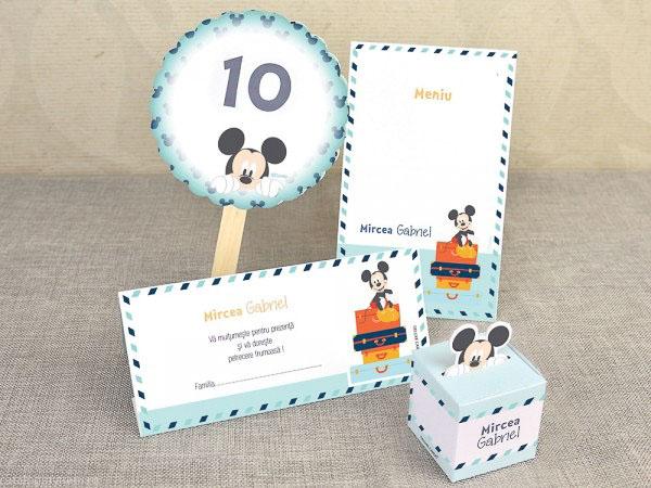 Invitatie Botez Valiza Mickey The Mouse 15700 Cataloginvitatii