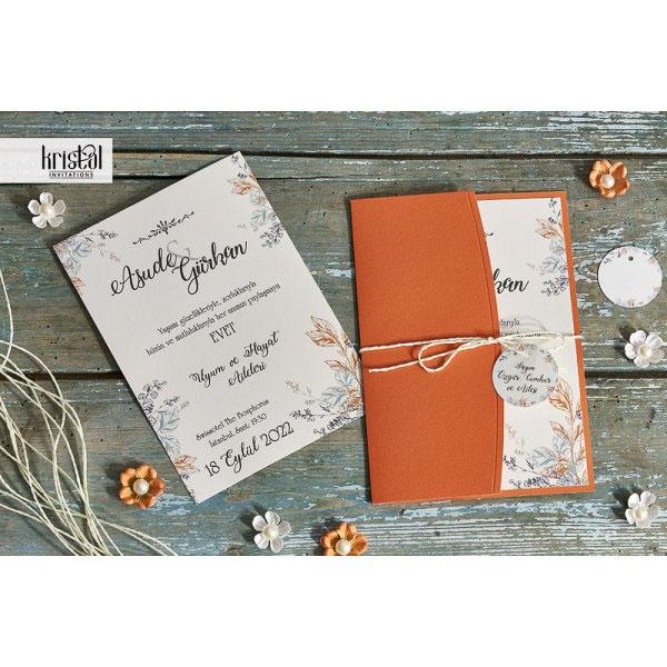 detaliu plan deoartat Invitatie Florala Portocaliu 70301