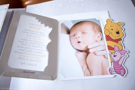 detaliu din catalog poza bebelus Invitatie Winnie the Pooh & Piglet cu poza copil 15729