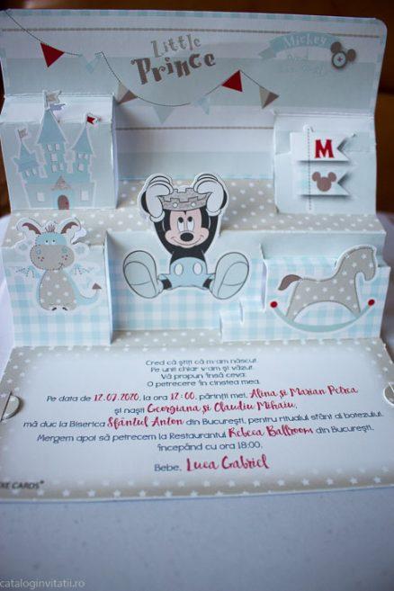 detaliu din catalog invitatie deschisa Little Prince Mickey 3D 15702