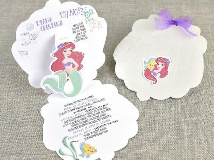 detaliu invitatie deschisa Little mermaid MIca sirena 15703