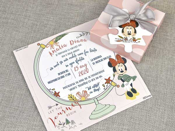 detaliu invitaie plan departat Minnie Mouse Puzzle 15711
