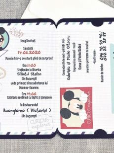 detaliu text invitatie botez Mouseport Mickey 15705