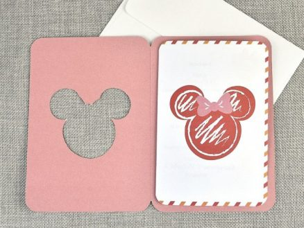 Detaliu invitatie botez Mouseport Minnie 15706