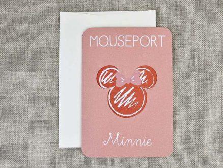 coperta exterioara invitaite botez Mouseport Minnie 15706