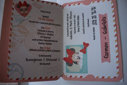detaliu interior invitatie Mouseport Minnie 15706