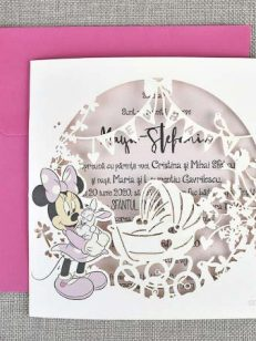 detaliu departat invitatia New Baby Girl daughter Laser Cut 15709