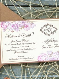 detaliu apropiat Invitatie flower clasic card 70234