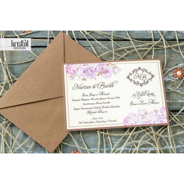 detaliu departat Invitatie flower clasic card 70234