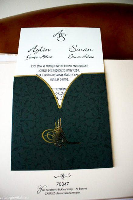 detaliu din catalog Invitatie green gold 70347