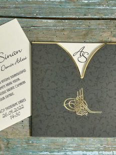 paln apropiat Invitatie green gold 70347