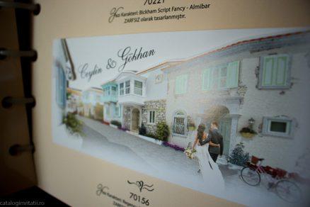 detaliu apropiat Invitatie model casa noastra 70156