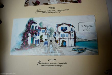 detaliu din catalog Invitatie model casa noastra de langa lac 70109