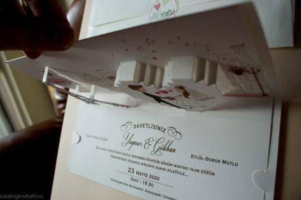 detaliu superior 3d din catalog Invitatie 70132