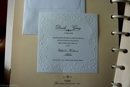 detaliu din catalog Invitatie model clasic 70282