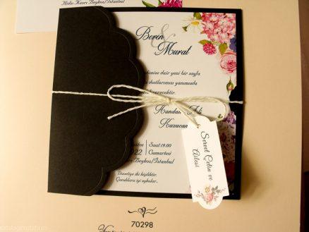 plan aprpoiat din catalog Invitatie model floral multicolor 70298
