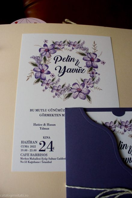 detaliu din catalog invitatie nunta 70296