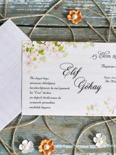detaliu aprpiat Invitatie model flower pink 70244