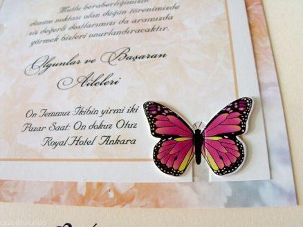 detaliu fluture Invitatie model fluture 70279