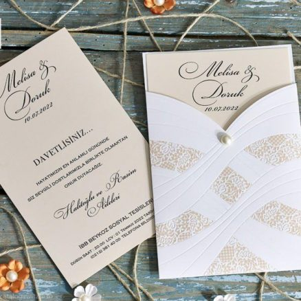detaliu apropiat Invitatie model 70353