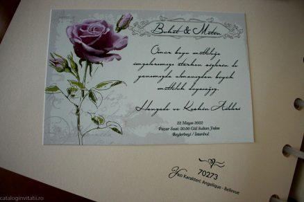 detaliu apropiat din catalog Invitatie model 70273
