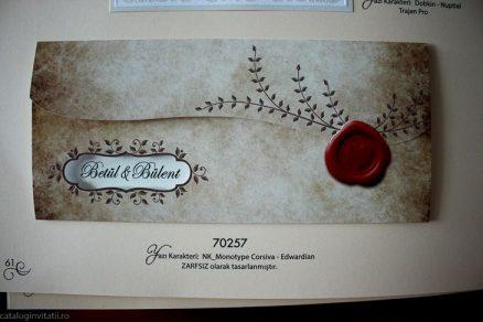 detaliu din catalog invitatie inchisa Invitatie model 70257