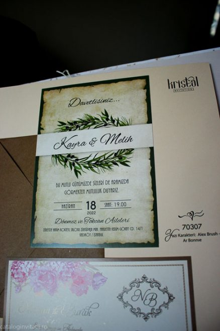 fotografie detaliu din catalog invitatie 70307