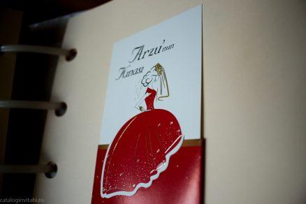 detaliu rochie in catalog nvitatie rochie rosie 70304