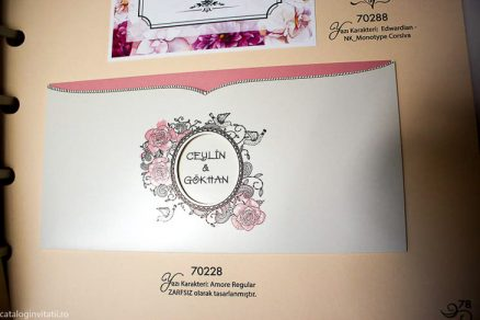 detaliu din catalog deciaj central invitatie 70228