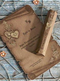 detaliu plan apropiat Invitatie papirus carton reciclat 70224