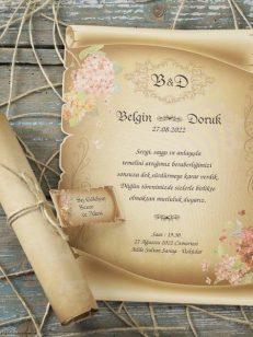 detaliu plan apropiat papirus si cornet Invitatie 70272