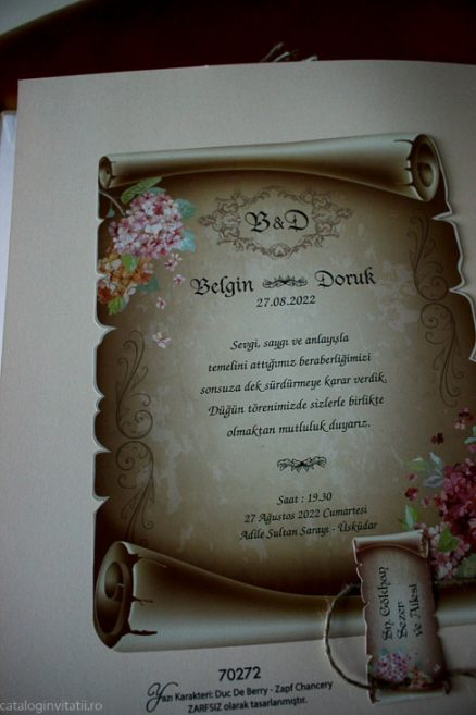 detaliu din catalog text Invitatie 70272