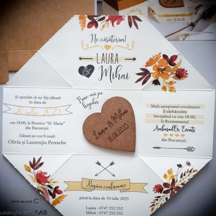 detaliu din catalog cutie invitatie deschisa 39820