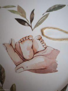 detaliu macro picioruse bebelus