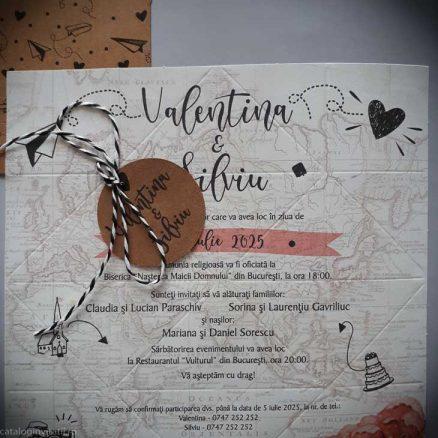 detaliu din catalog invitatie origami solnita 39824