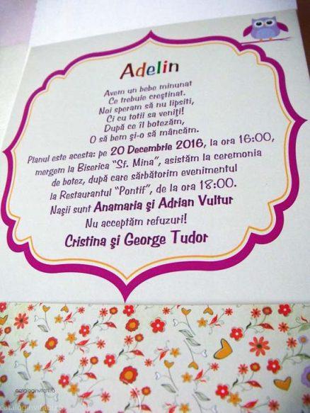 detaliu din catalog text invitatie 120