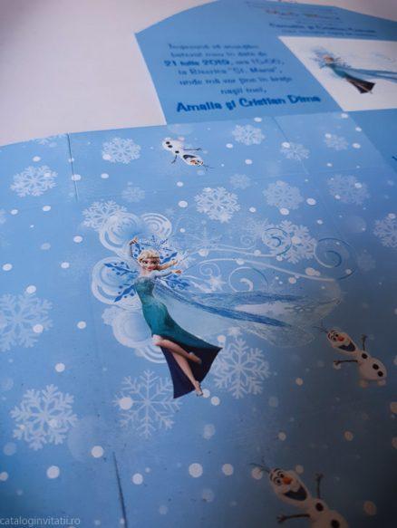 detaliu apropat personaj Elsa Invitatie cutie Elsa of Arendelle 133