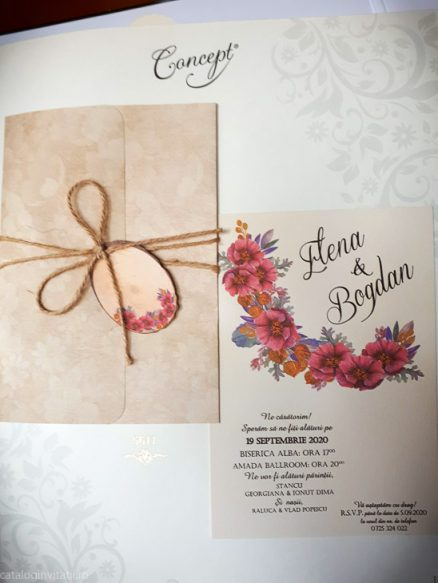 detaliu din catalog plan departat invitatie 5611