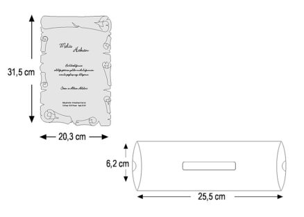 dimensiuni invitatie pergament 2468