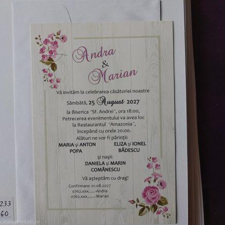 detaliu din catalog invitatie 20233