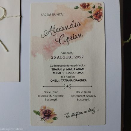 detaliu din catalog invitatie 22349